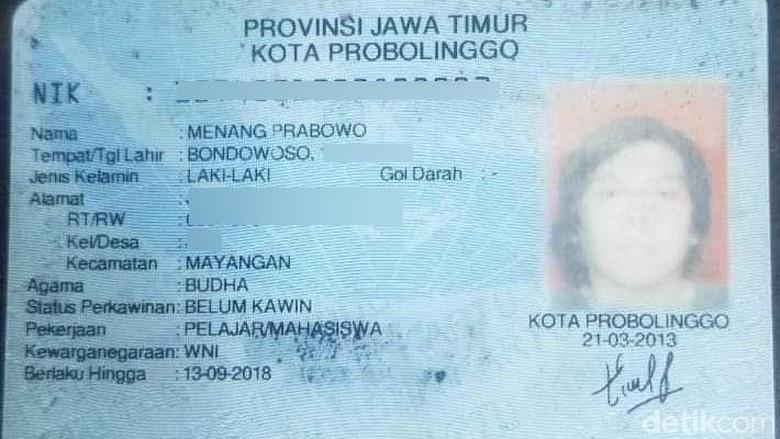 Pria di Probolinggo Ini Mempunyai Nama Menang Prabowo