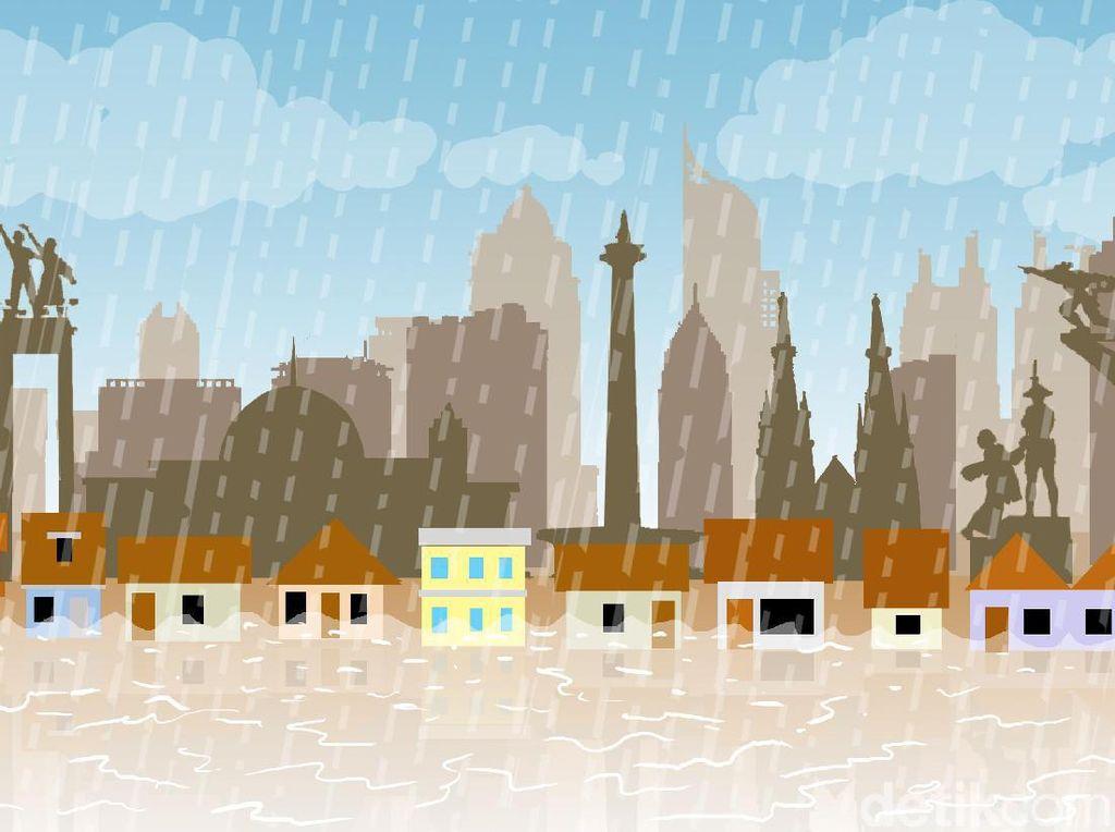 Data Banjir Tertinggi di DKI dari Era Jokowi, Ahok hingga Anies Baswedan