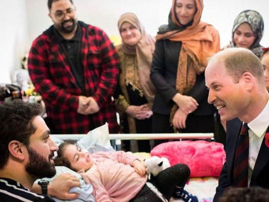 Pangeran William Bertemu Korban Christchurch yang Baru Sadar dari Koma
