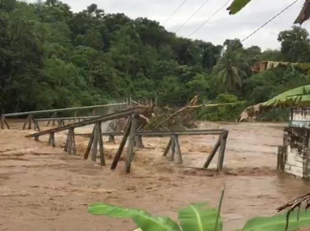 Jembatan Empat Lawang Putus, Gubernur Sumsel Upayakan Jembatan Darurat