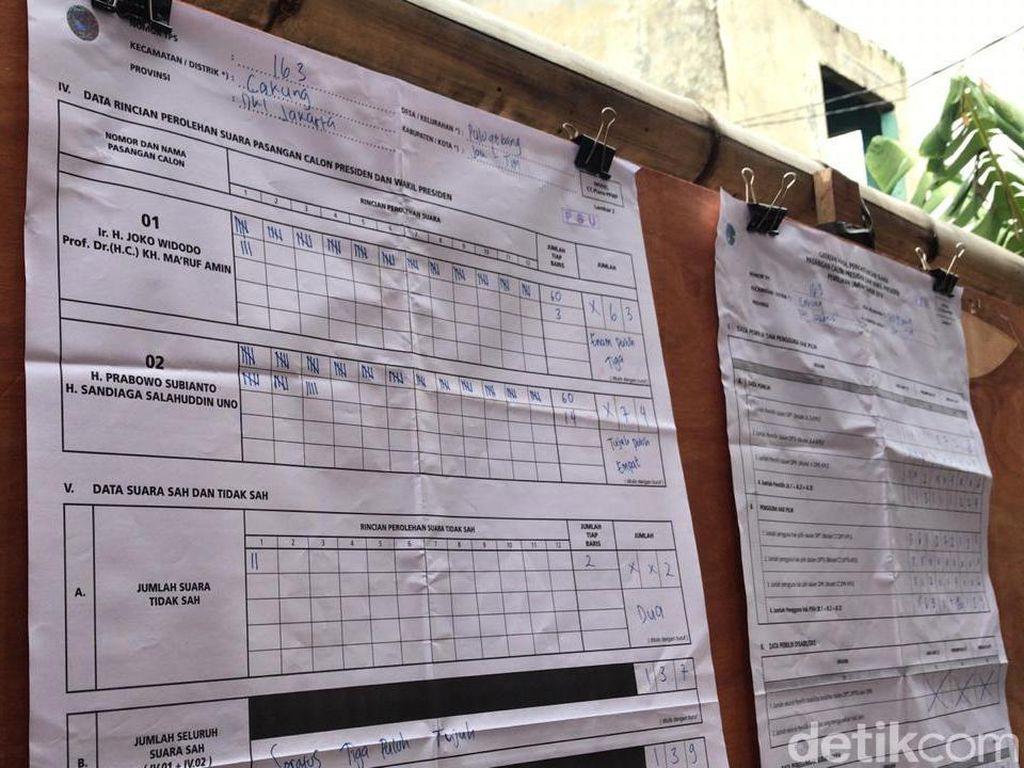 Coblos Ulang di TPS 163 Pulogebang, Prabowo Kembali Menang