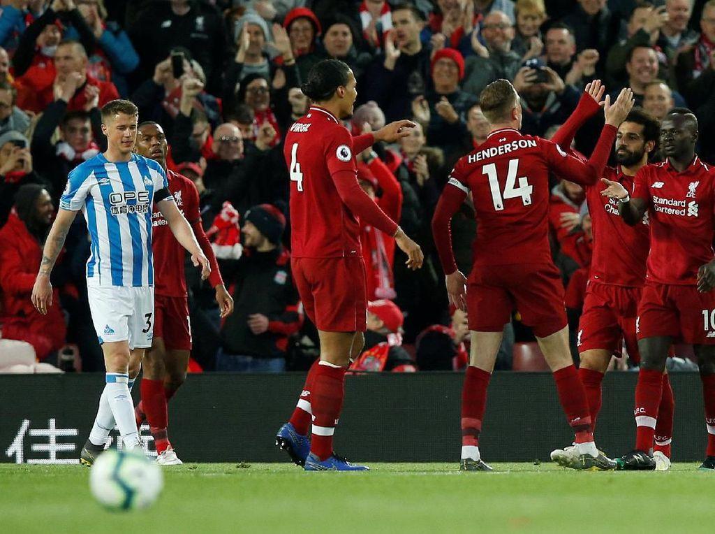 Hasil Liga Inggris: Liverpool Gasak Huddersfield Town 5-0