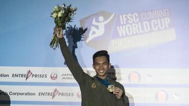 Alfian Juara Panjat Tebing di Chongqing, Pelatih Akui Belum Sepenuhnya Puas