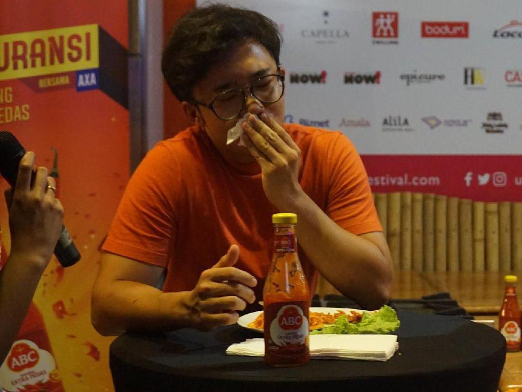 Reaksi Food Vlogger Saat Adu Ketahanan Makan Mie Terpedas Tanpa Minum