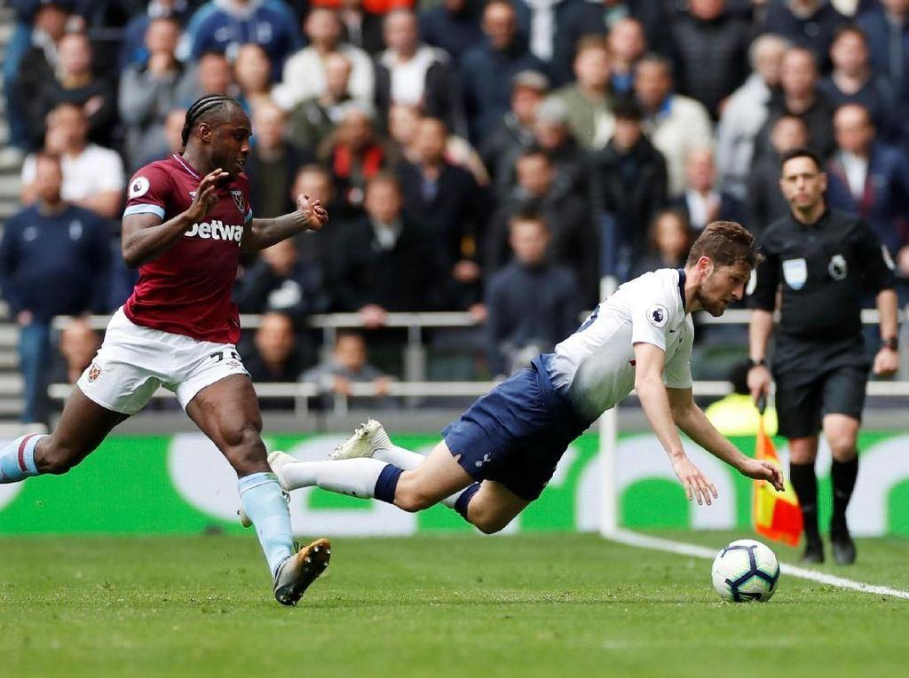 Tottenham Diredam West Ham 0-0 di Babak Pertama