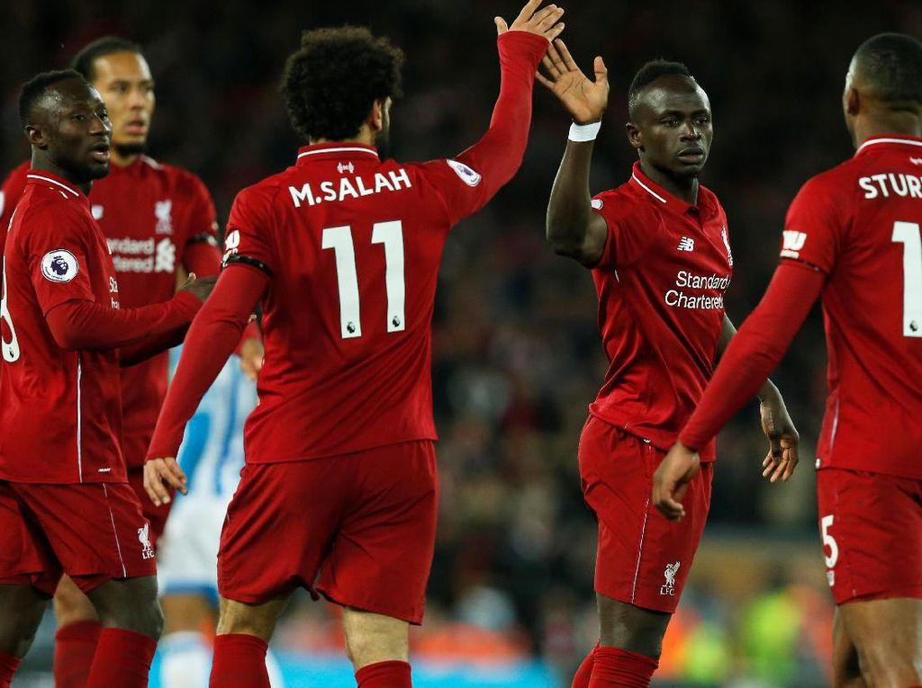 Salah dan Mane Bersinar, Liverpool Habisi Huddersfield