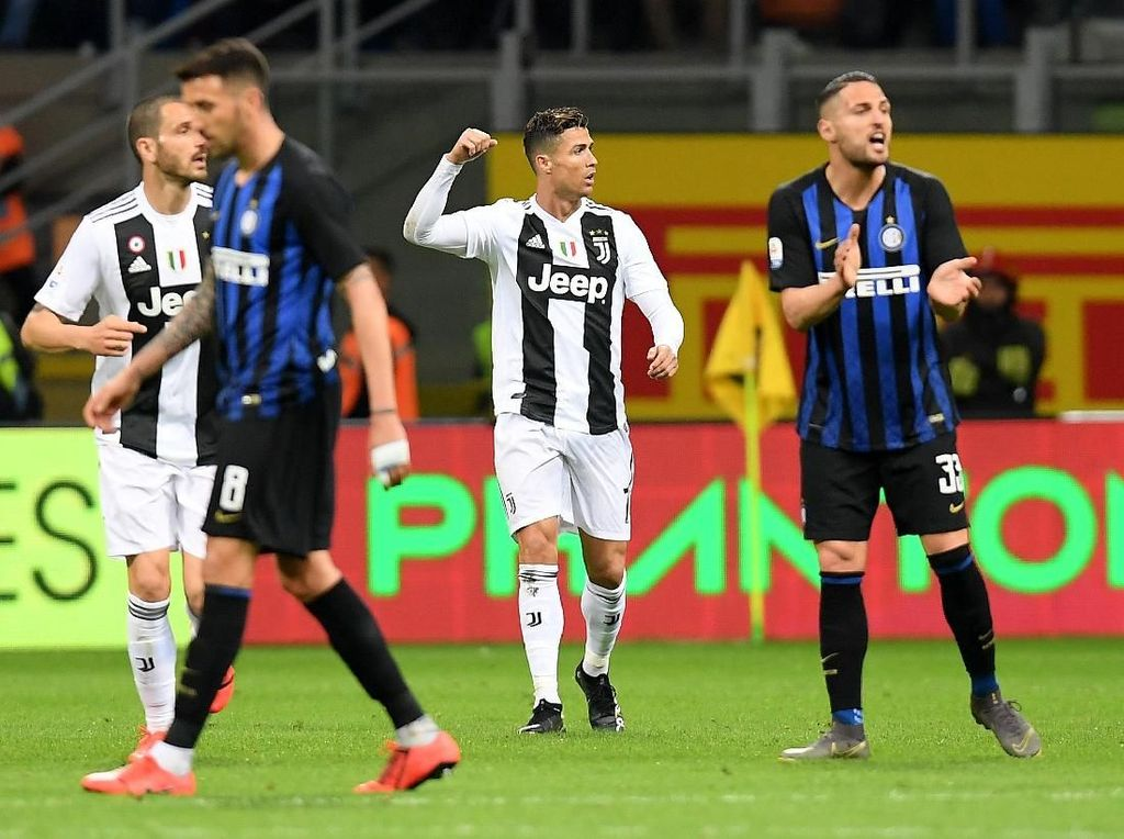 Nainggolan-Ronaldo Berbagi Gol, Inter vs Juventus 1-1