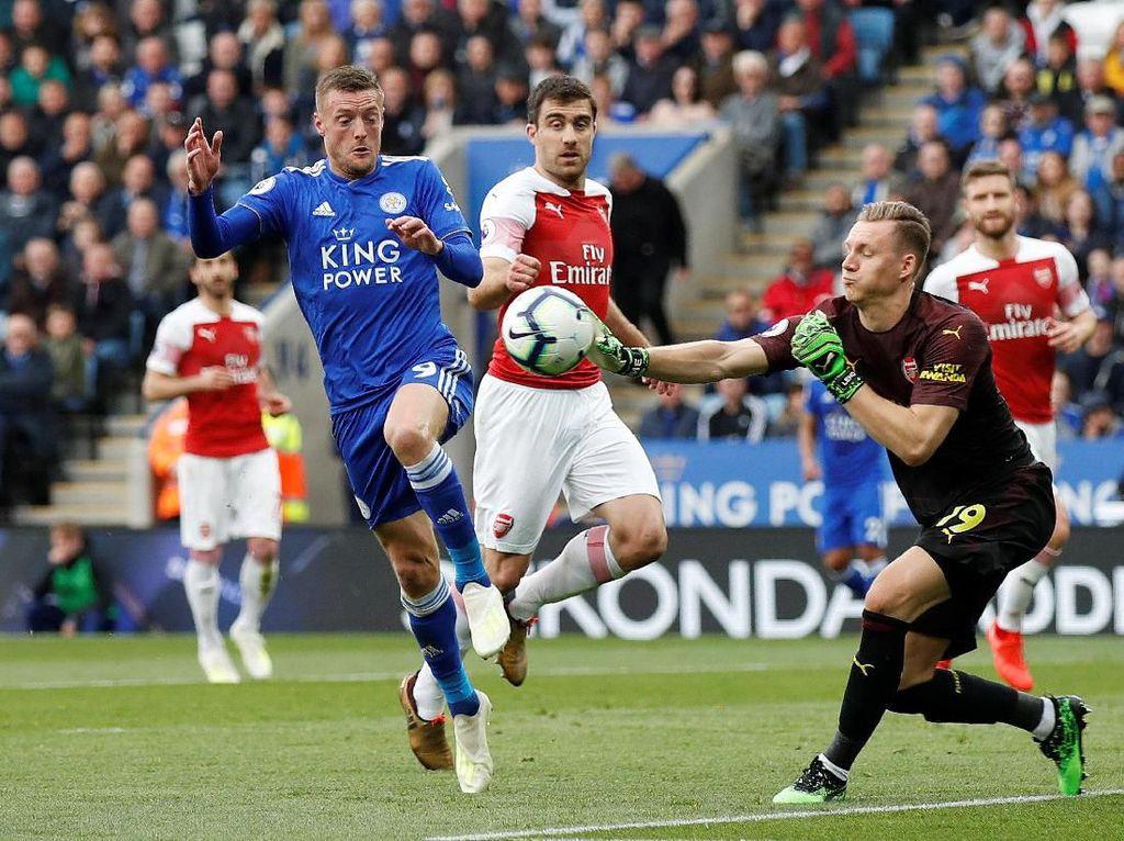 Babak Pertama Tuntas, Leicester vs Arsenal Tanpa Gol