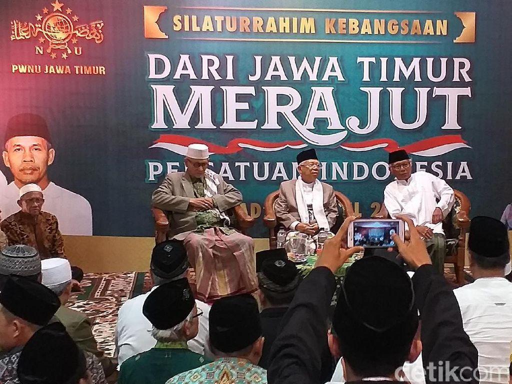 Maruf Amin Sebut Kemenangan 01 Ditentukan Oleh Jatim