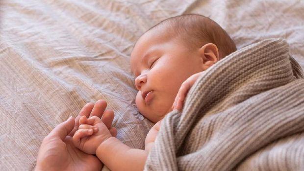 Adorable baby boy sleeping