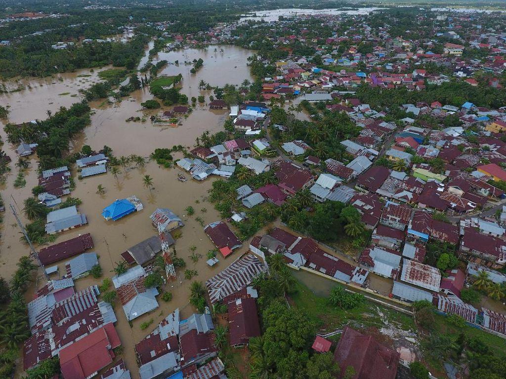 Penampakan Udara Banjir yang Melanda Bengkulu