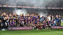 Messi Cetak Gol, Barcelona Juara Liga Spanyol