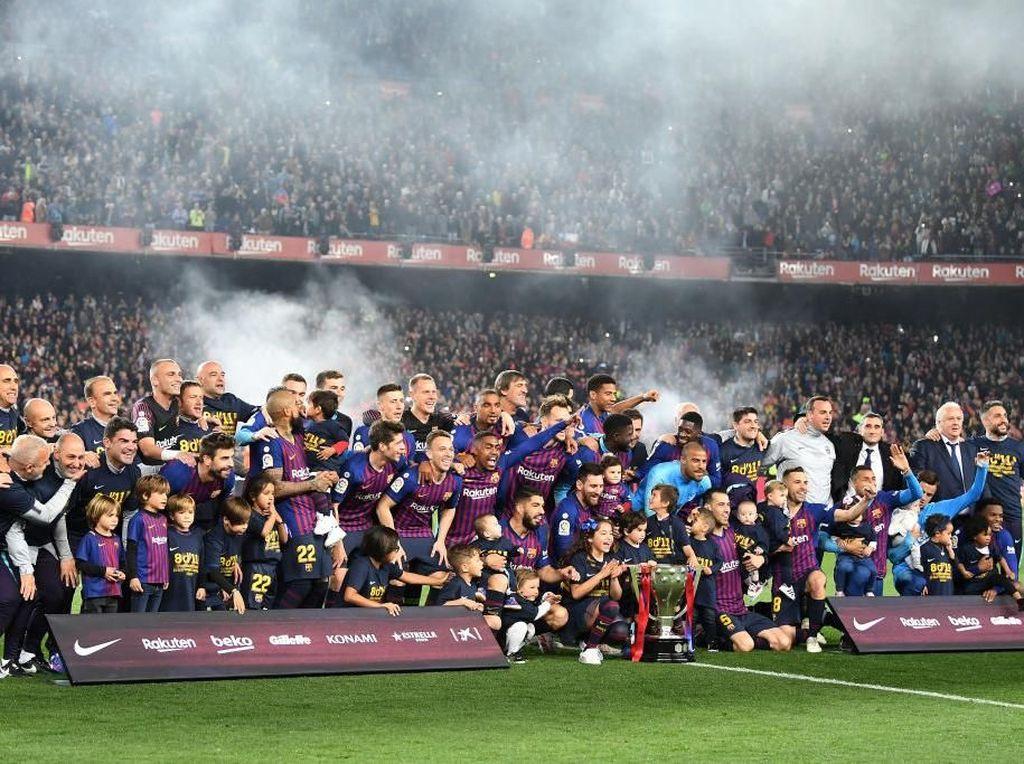 Barcelona Sabet Gelar LaLiga ke-26