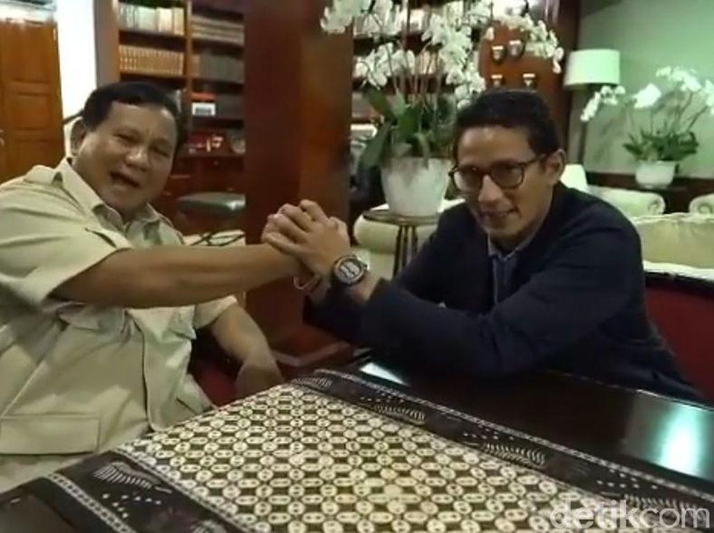 Prabowo: Saya Berterimakasih Punya Wakil Muda dan Fit