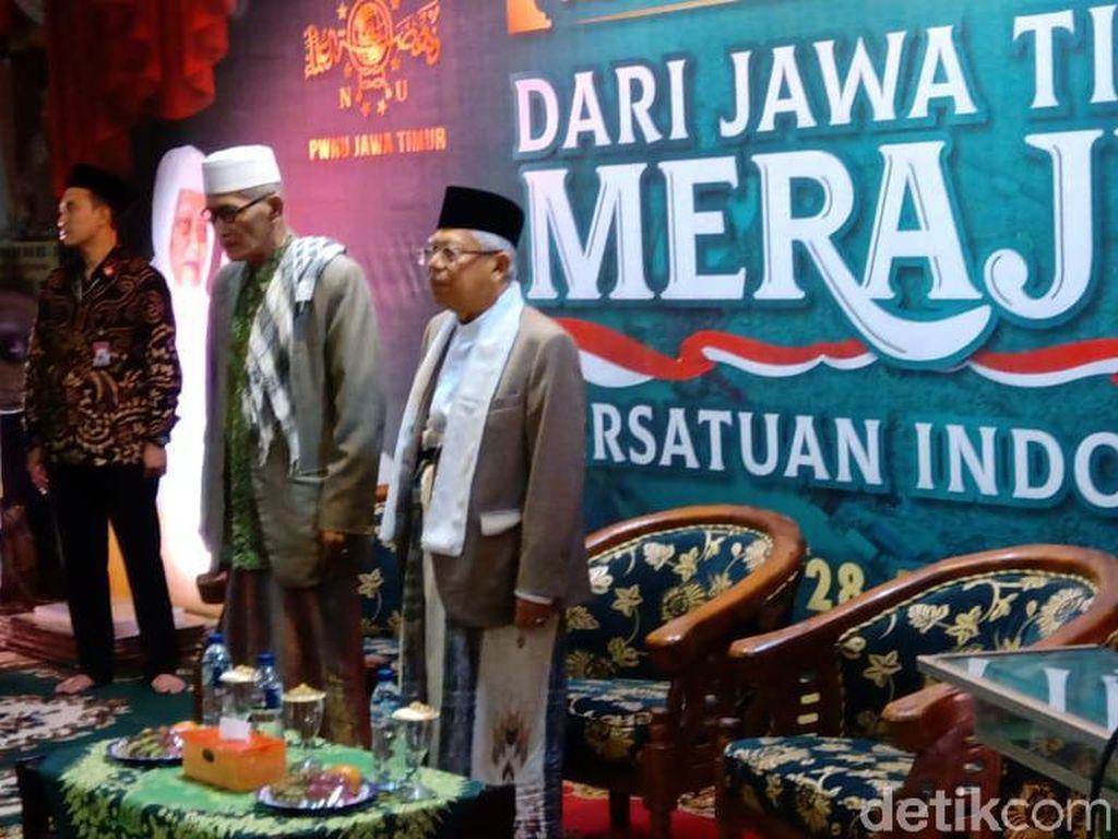 Hadiri Acara NU Jatim, Maruf Amin Dipanggil Wakil Presiden