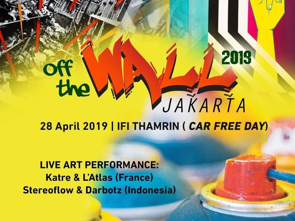 Seniman Prancis dan Indonesia Bikin Mural Bareng saat Car Free Day