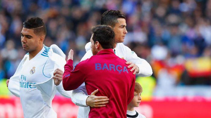 Cristiano Ronaldo dan Lionel Messi juara liga bersamaan musim ini (Gonzalo Arroyo Moreno/Getty Images)