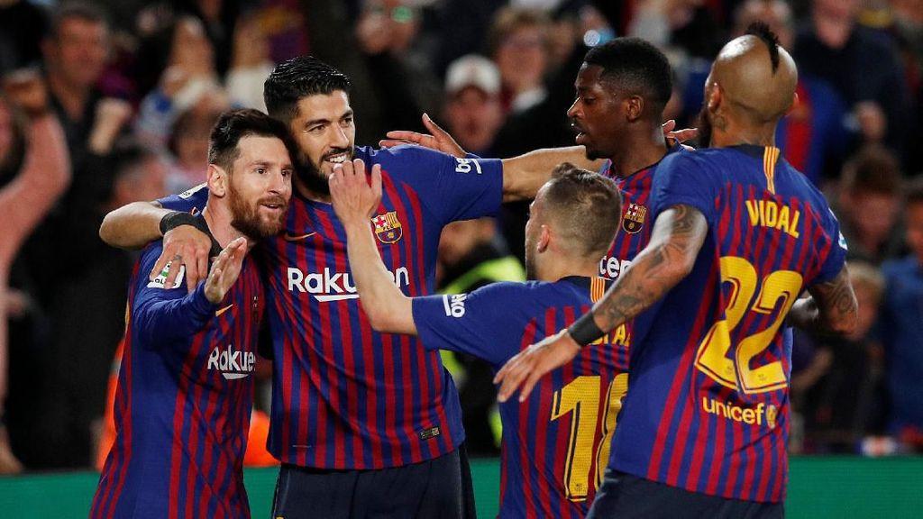 Kalahkan Levante, Barca Juara LaLiga