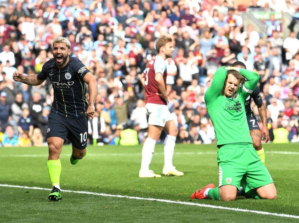 Golnya Menangkan Man City, Aguero Setara Thierry Henry