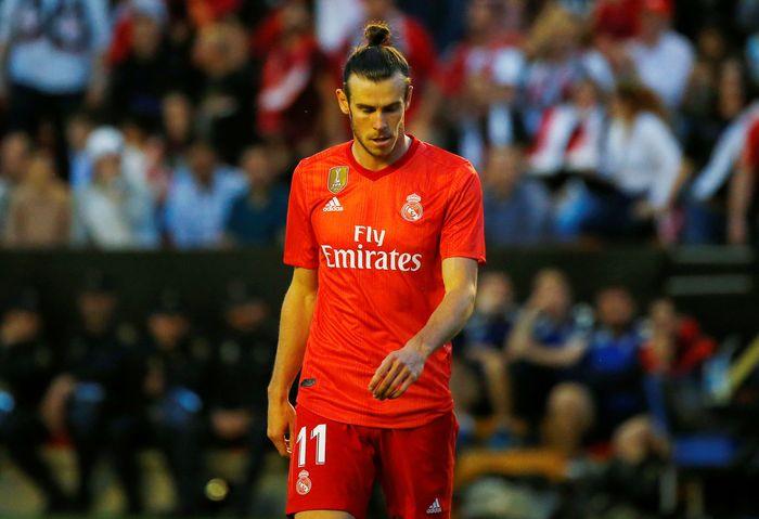 Gareth Bale gagal menunjukan tajinya dengan tidak mampu mencetak gol. REUTERS/Javier Barbancho.
