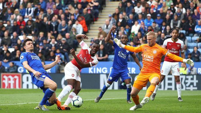 Arsenal tumbang 0-3 di hadapan Leicester City. (Foto: Julian Finney/Getty Images)