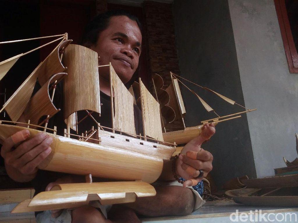Miniatur Pinisi Karya Difabel Cirebon Ini Sudah Mulai Mendunia