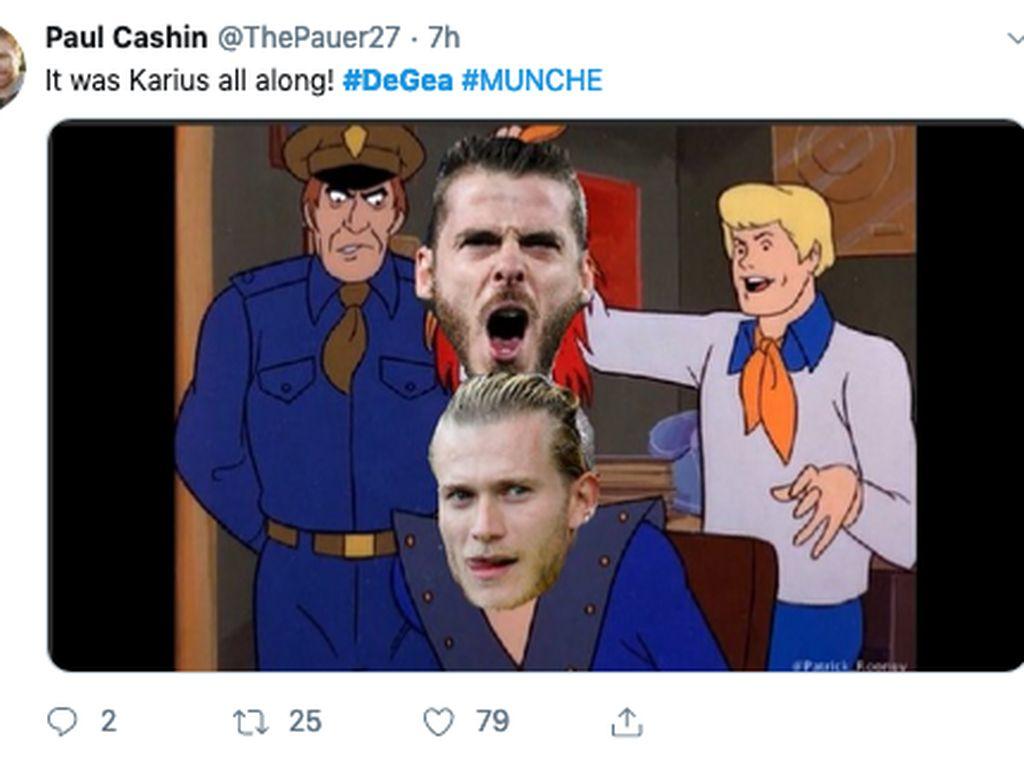 Ragam Meme David De Gea Blunder Lagi, Loris Karius Ikut Kena