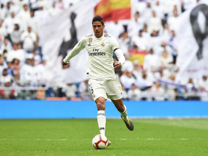 MADRID, SPAIN - APRIL 21:  Rafael Varane of Real Madrid in action during the La Liga match between Real Madrid CF and Athletic Club at Estadio Santiago Bernabeu on April 21, 2019 in Madrid, Spain. (Photo by Denis Doyle/Getty Images)