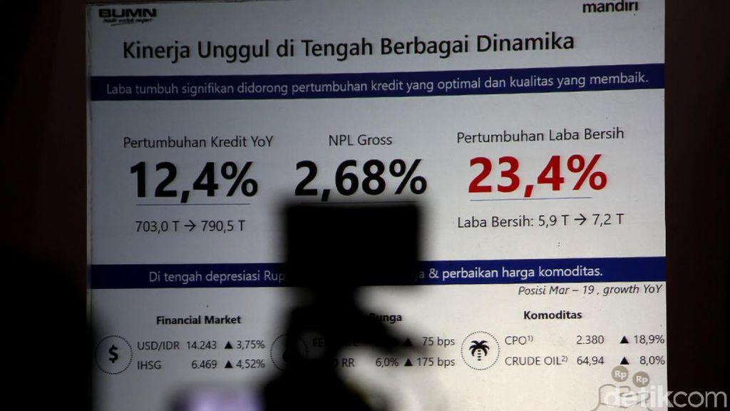 Naik 23,43%, Laba Bank Mandiri Capai Rp 7,23 T di Kuartal I