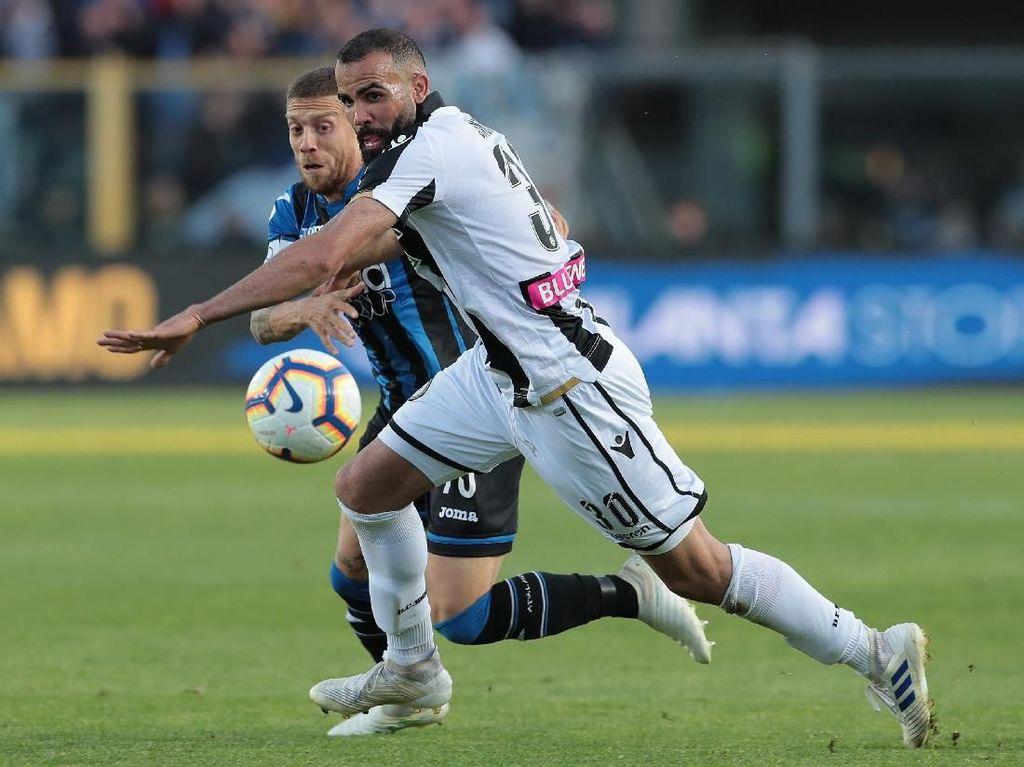 Hasil Liga Italia: Kalahkan Udinese, Atalanta Masuk Empat Besar