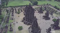 Foto Drone: Kemegahan Candi Prambanan dari Ketinggian