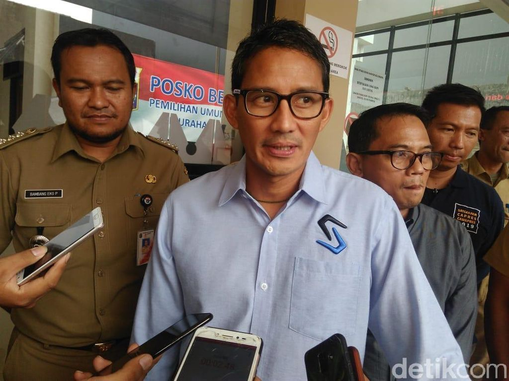 AHY Bertemu Jokowi, Sandiaga Pilih Husnuzan