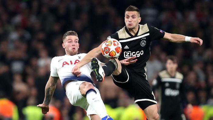 Ajax unggul 1-0 atas Tottenham Hotspur menuju leg kedua semifinal Liga Champions. (Foto: Julian Finney/Getty Images)