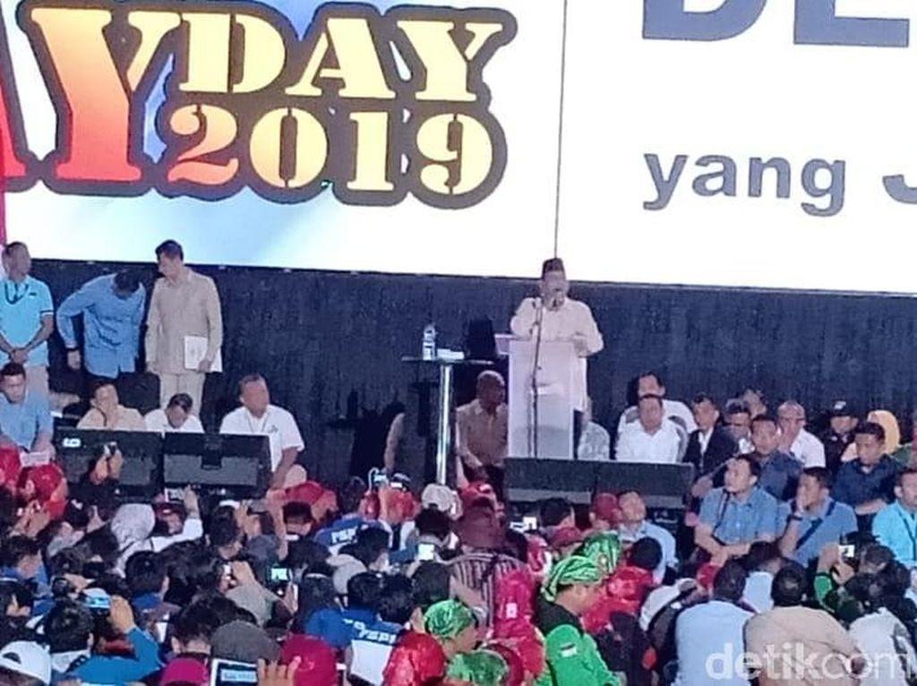 Orasi di Hari Buruh, Prabowo: Kalau Kaya Hasil Nyuri Itu Pengkhianat Bangsa