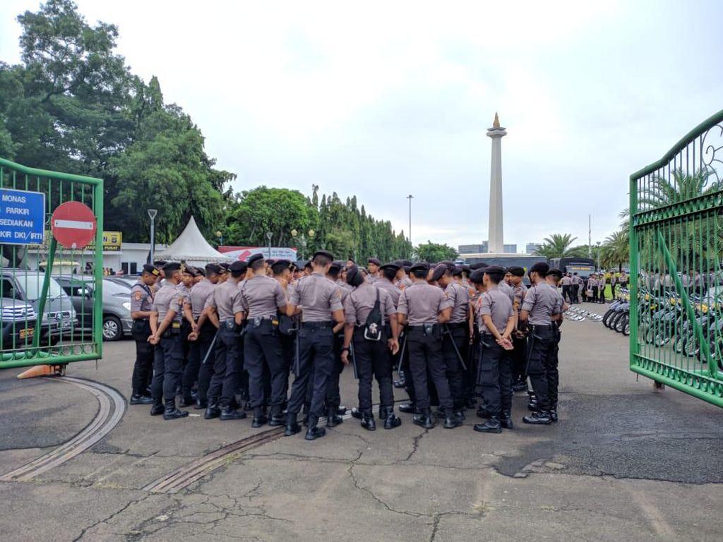 May Day di Istana Hari Ini, Polisi Siaga di Monas