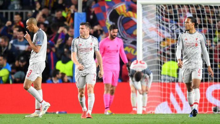 Liverpool kalah 0-3 di kandang Barcelona. (Foto: Michael Regan/Getty Images)