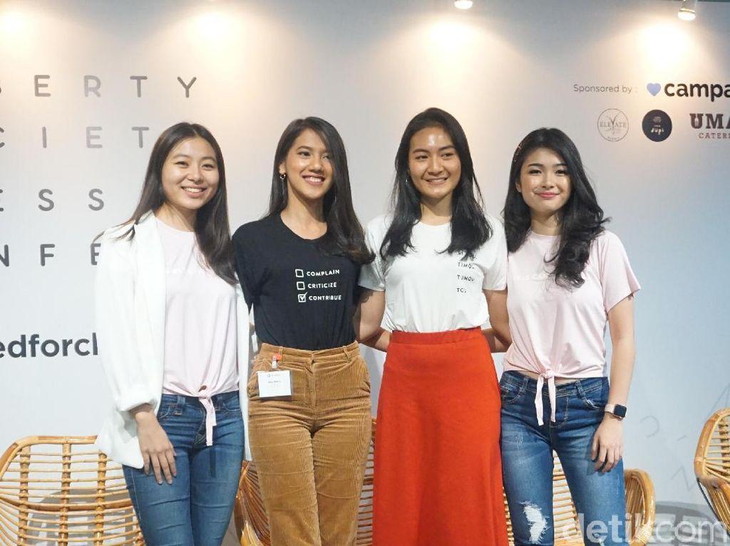 4 Finalis Miss Indonesia Desain Baju untuk Amal dengan Pesan Inspiratif