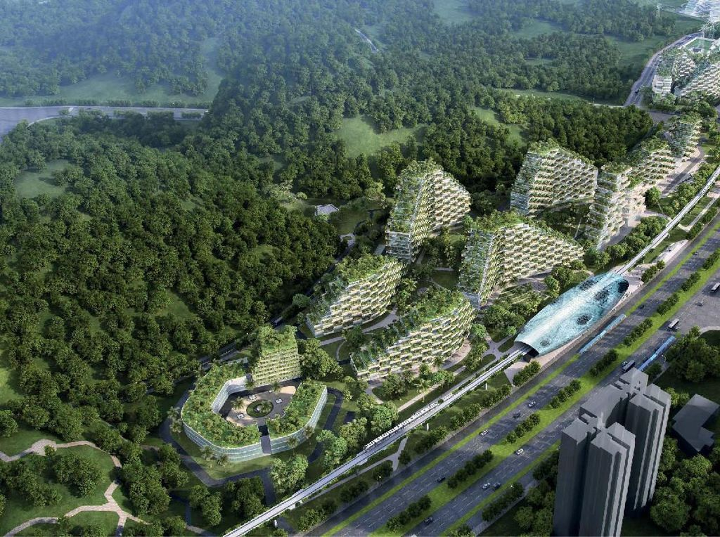 Lawan Global Warming, China Bakal Bangun Kota Hutan