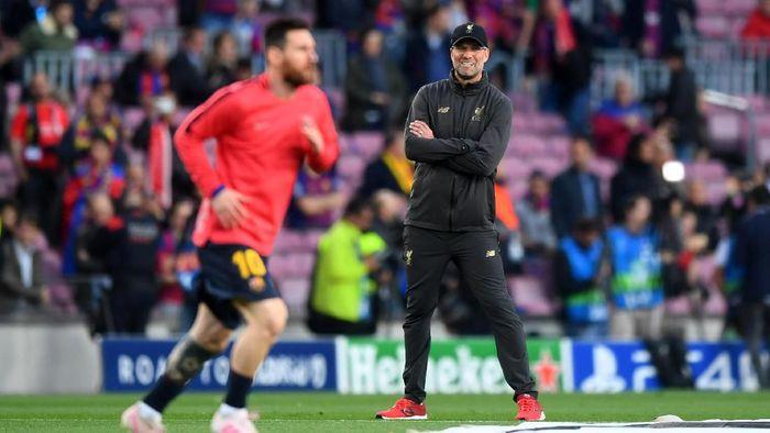 Menurut Juergen Klopp, tendangan bebas Lionel Messi memang tak bisa dihentikan (Michael Regan/Getty Images)