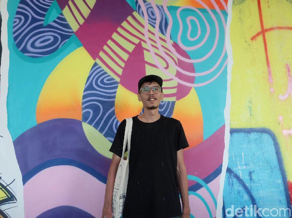 Stereoflow Tampilkan Mural Abstrak di Gedung Duta Merlin Harmoni