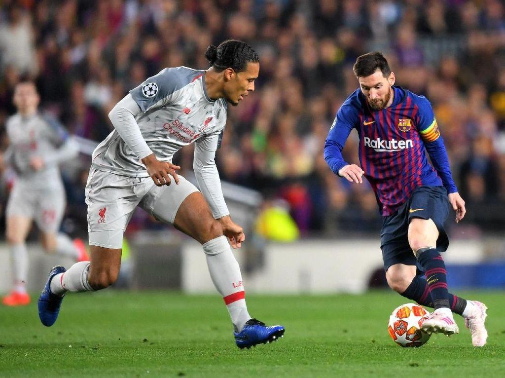 Messi dan Aguero, Dua Striker yang Merepotkan Van Dijk