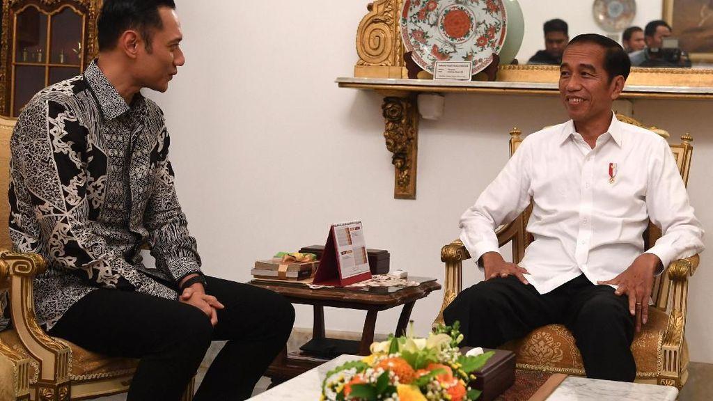 Potret Kebersamaan AHY Saat Bertemu Jokowi