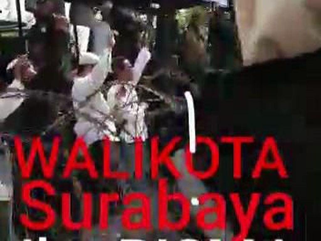Viral Video Demo KPU Bercaption Wali Kota Surabaya Ibu Risma, Pemkot: Hoaks
