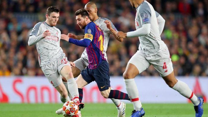 Lionel Messi mencetak gol ke-600 sepanjang kariernya bersama Barcelona. (Foto: Catherine Ivill/Getty Images)