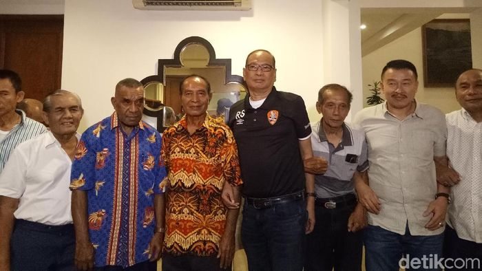Rahim Soekasah siap maju sebagai calon Ketua Umum PSSI. (Foto: Amalia Dwi Septi/detikSport)