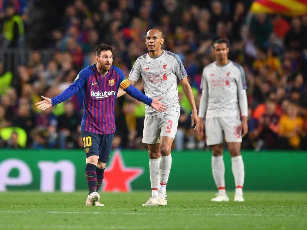 Ketika Wasit Barcelona Vs Liverpool Kesal Lihat Messi di Lapangan