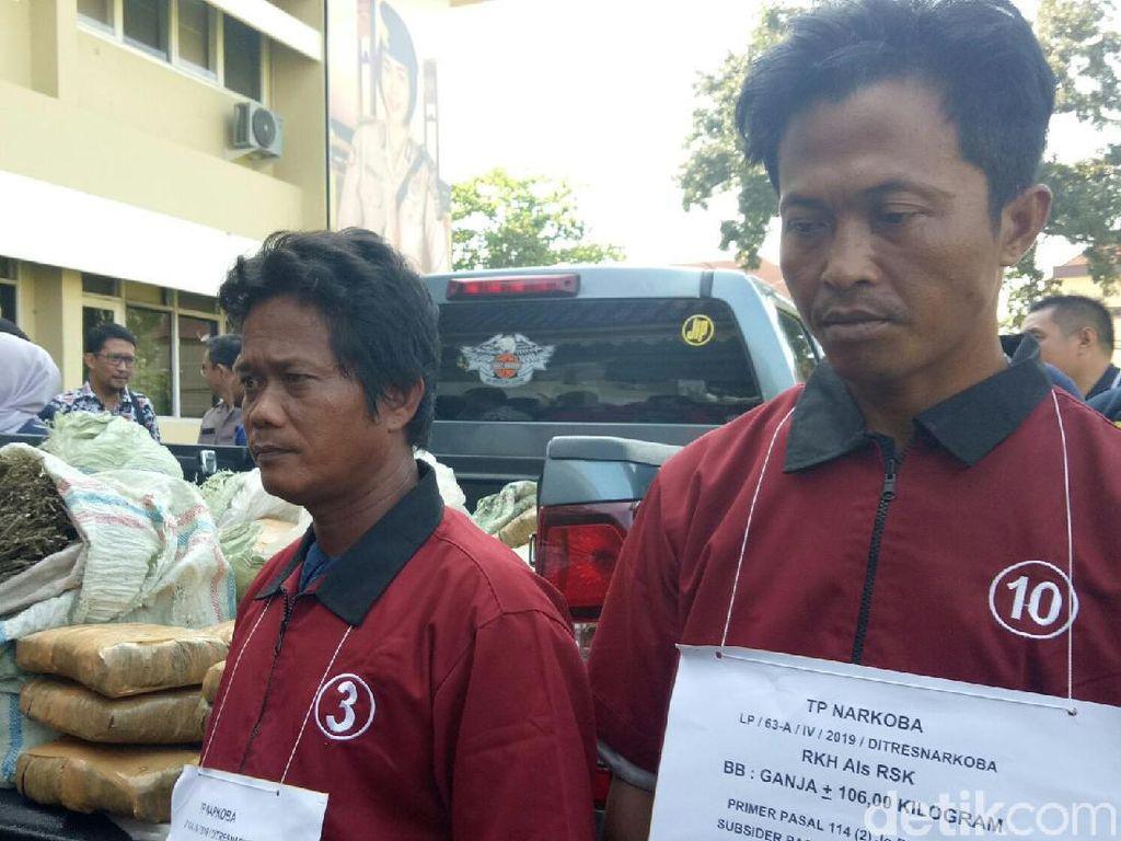 Bawa 106 Kg Ganja Asal Aceh, 2 Kurir Ditangkap di Sumsel