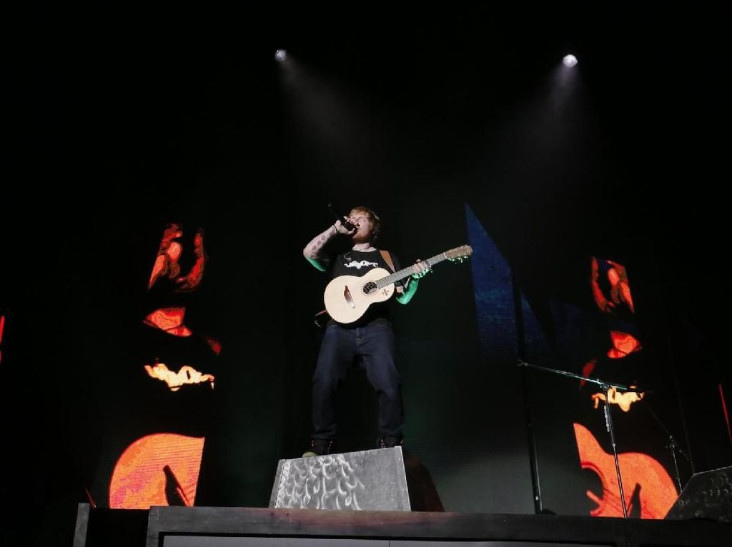 Castle On the Hill Buka Konser Ed Sheeran di Jakarta