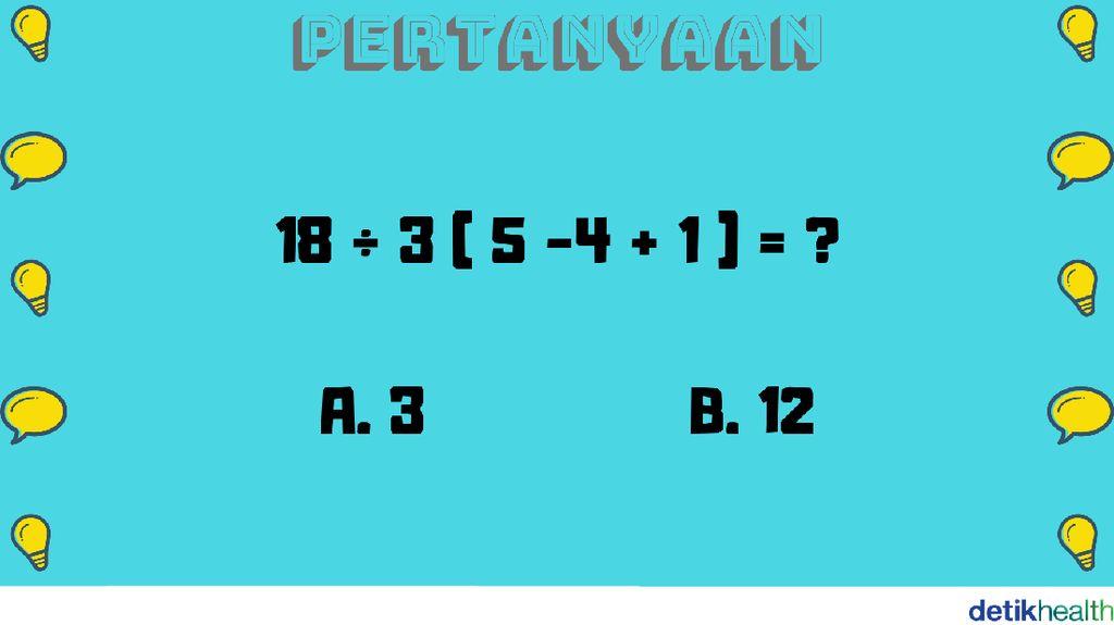 Teka-teki Matematika Ini Butuh Ketelitian, Bisa Jawab Semuanya?