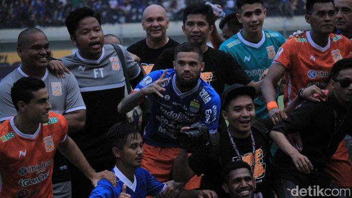 Diego Michiels bersyukur Borneo FC lolos semifinal Piala Piala Indonesia. (Wisma Putra/detikSport)